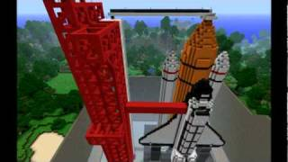 Minecraft 1:1 Scale Space Shuttle on Launch Pad