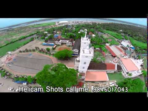 St Mary's Church Vallarpadam Kochi (my helicam shots)
