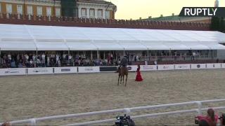 Фестиваль «Спасская башня» в Москве: коллектив из Кордовы представляет конное шоу