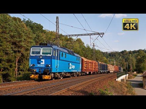 Rail traffic in the Czech Republic - The busiest and scenic railway line - Brandys - Bezpravi [4K]