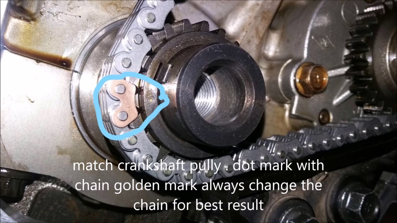 2007    Hyundai       Entourage    Timing Chain Marks Installation
