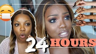 I wore FOUNDATION for 24 hours! WTH !! Testing #BeccaUltimateCoverage 24 Hour  Foundation