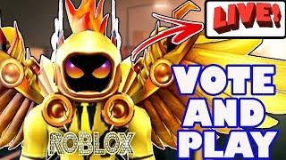 🔴 Roblox Live - COME VOTE ✅ AND PLAY 🥓 | Jailbreak, Flood Escape, Epic Minigames, Pet Sim, & More