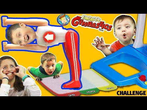 FANTASTIC GYMNASTICS CHALLENGE! Losers Eat Melted Candy!  FUNnel Vision Flips & Fails Fun