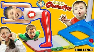 Video FANTASTIC GYMNASTICS CHALLENGE!  Losers Eat Baby Shawn Used Diaper?  FUNnel Vision Flips & Fails Fun download MP3, 3GP, MP4, WEBM, AVI, FLV November 2017