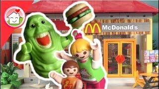 Playmobil Film deutsch - Ghostbusters im McDonalds - Kinderfilm von Familie Hauser