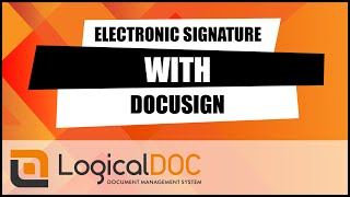 Electronic signature with DocuSign