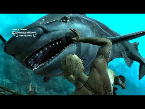 Assassin's Creed 4 Black Flag  Underwater Exploration & Kill
