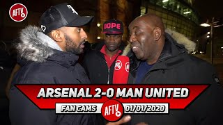 Arsenal 2-0 Man United | Arteta Can't Work Miracles! We'll Finish Above You! (Flex - United Stand)