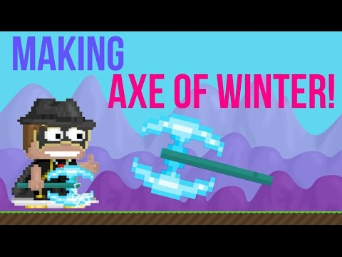 growtopia making the axe of winter ft fanfreeze doovi. Black Bedroom Furniture Sets. Home Design Ideas