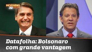 1ª pesquisa Datafolha do segundo turno mostra vantagem de Bolsonaro sobre Haddad