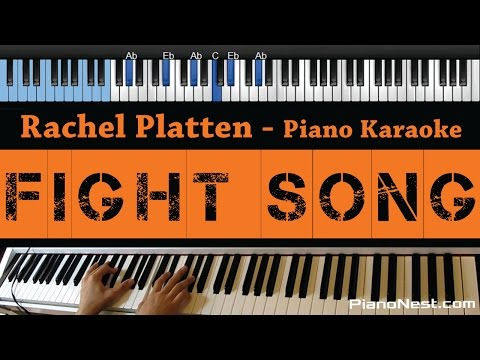 Rachel Platten - Fight Song - LOWER Key (Piano Karaoke / Sing Along / Cover with Lyrics)