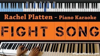 Download lagu Rachel Platten - Fight Song - LOWER Key (Piano Karaoke / Sing Along / Cover with Lyrics)
