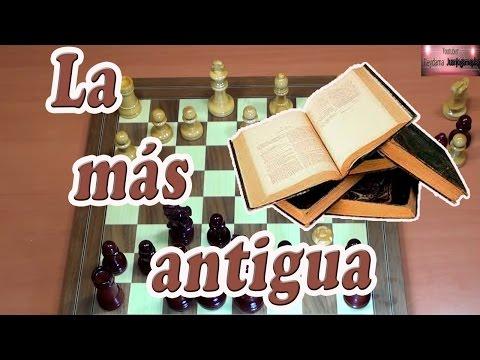 La partida de ajedrez más antigua que existe