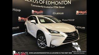 White 2015 Lexus NX 200t Premium Package Review Edmonton Alberta - Lexus of Edmonton