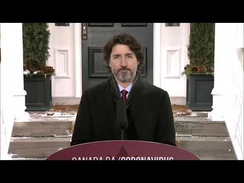 WATCH LIVE: Trudeau gives a COVID-19 update as Canada struggles with rapidly spreading second wave
