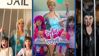 Elsa, Maleficent, and Twins Kate and Lilly Magic Play Time Collection!