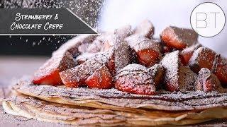 Strawberry & Chocolate Crepe