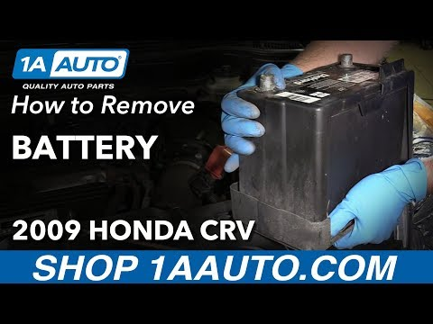 How to Replace Battery 07-11 Honda CR-V