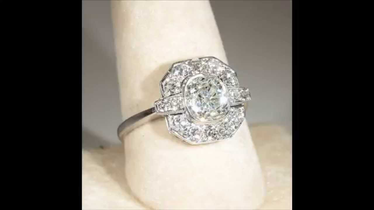 Art deco engagement rings design ideas - YouTube