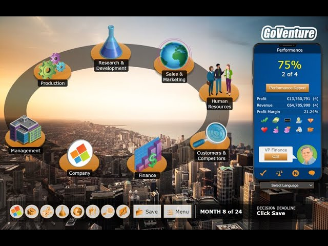 GoVenture CEO Business Simulation Game Tutorial Video