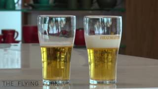 Nucleated beer glass comparison