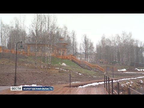 Благоустройство набережной в Вытегре готово на 99%