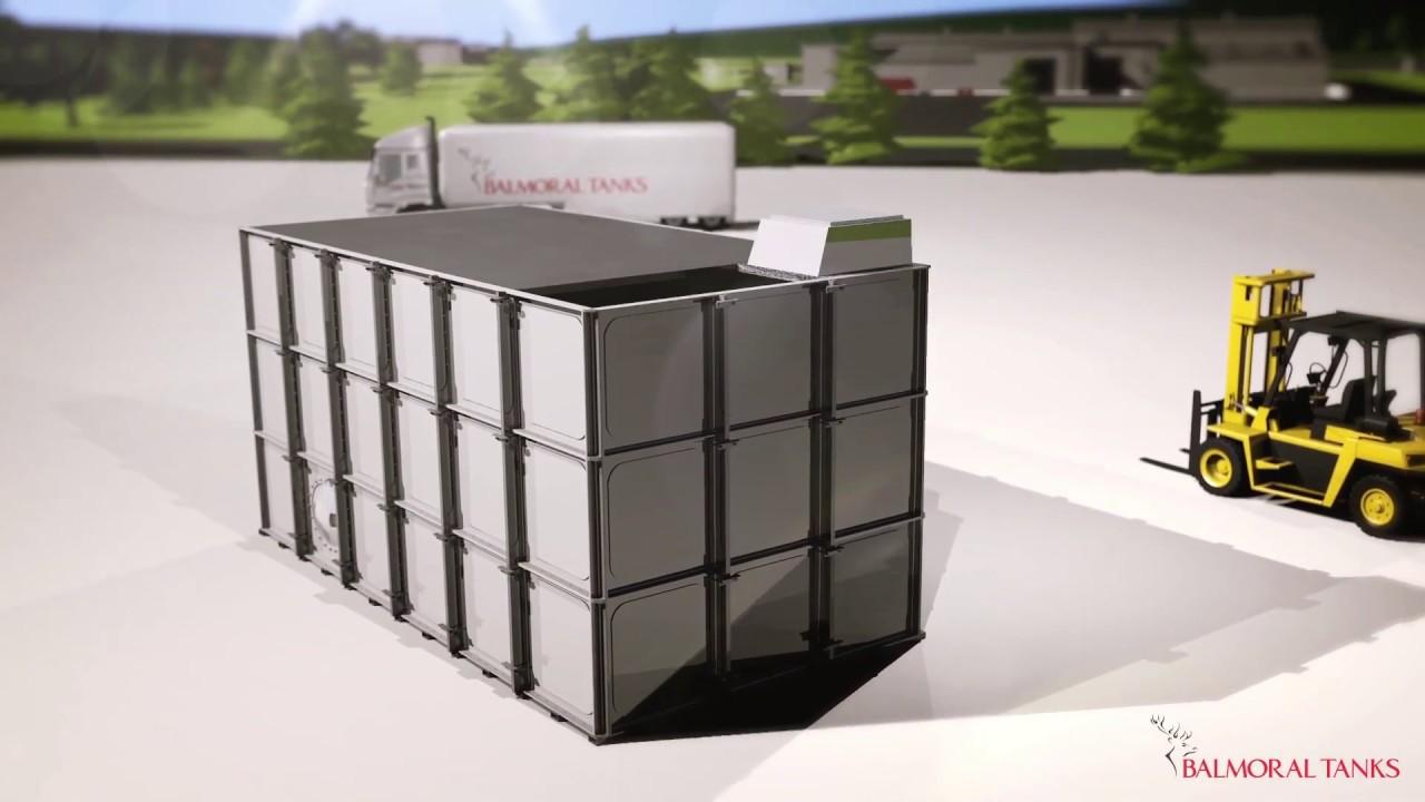 Balmoral GRP sectional water storage tanks