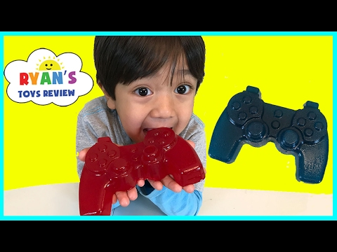 Thumbnail: Gummy Food Controller Candy for Kids Taste Test! Family Fun Lego Gummy Candy Review Ryan ToysReview