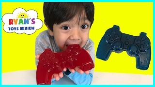Gummy Food Controller Candy for Kids Taste Test! Family Fun Lego Gummy Candy Review Ryan ToysReview thumbnail