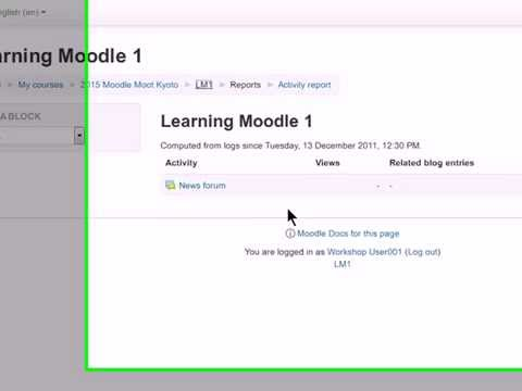 Creating groups and tracking students in Moodle