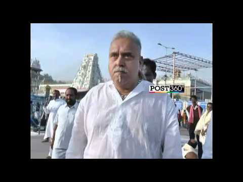 After closing Kingfisher airlines for the first time Vijay malya visited tirumala