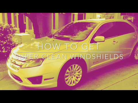 How to get your windshield super clean and get rid of that inside film fast and easy!