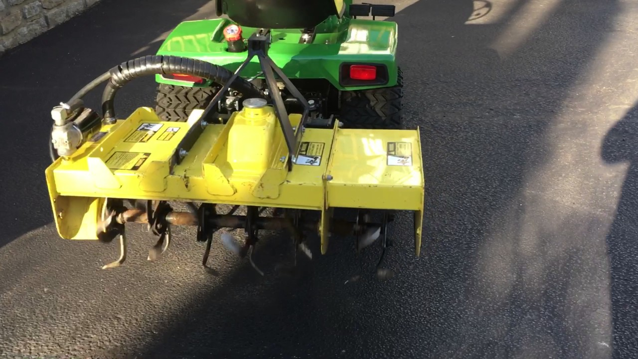 John Deere 42 Hydraulic Tiller on 332 YouTube