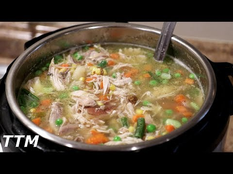 How To Make Instant Pot Chicken Vegetable Soup~Easy Cooking