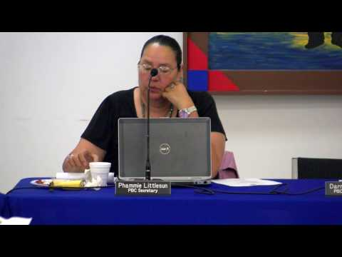 Pawnee Nation Business Council Special Meeting - Jan. 11, 2017