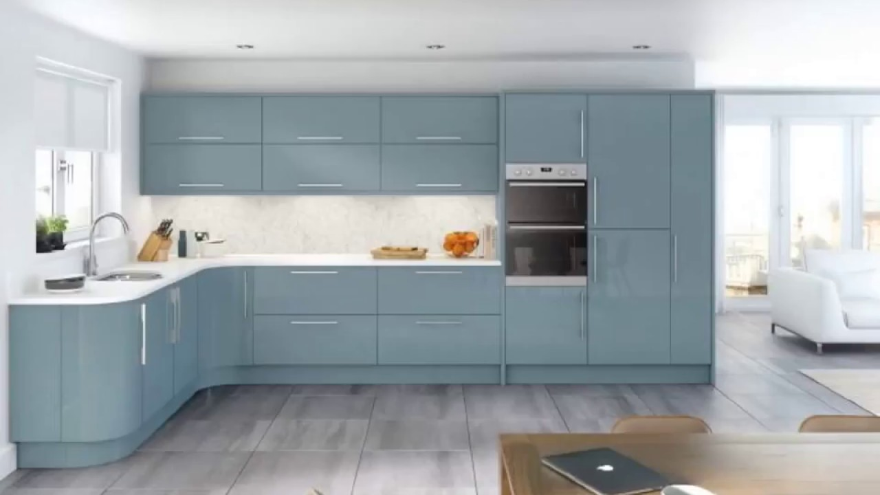 Chalk Paint Kitchen Cabinets Duck Egg Colors - YouTube