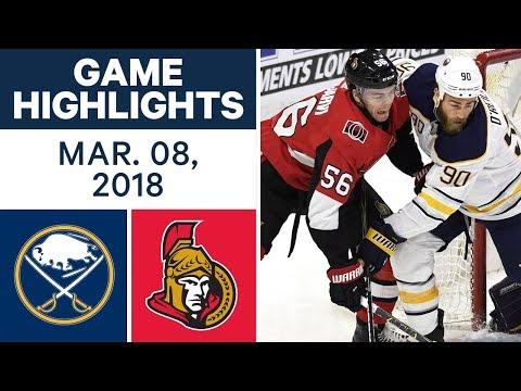 NHL Game Highlights | Sabres vs. Senators - Mar. 08, 2018