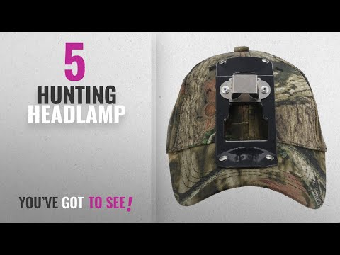 Top 10 Hunting Headlamp [2018]: GearOZ Green Camo Outdoor Cap/Hat With Headlamp Bracket For Night