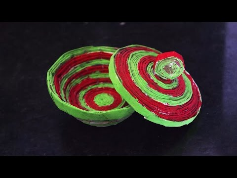 DIY Paper Bowl in Home Decoration Crafts   Paper Crats