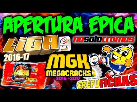 APERTURA EPICA!! TODO EN UNO!! CROMOS LIGA ESTE 2016-17 + GREFUFICHAS + CHICLES LIGA + MEGACRACKS