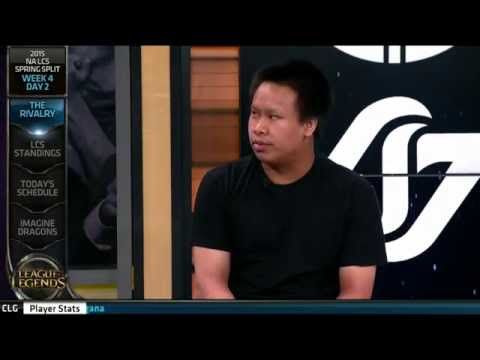 Reginald and HotshotGG with some Trash Talk before the TSM vs CLG match!