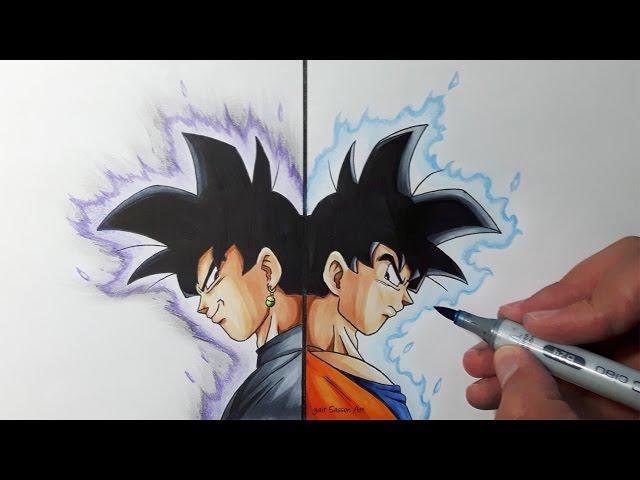 Drawing Goku VS Goku Black