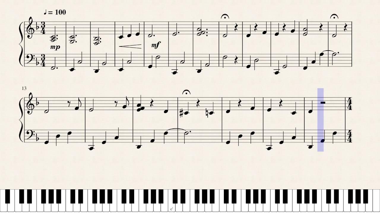 la la land audition piano sheet music flute melody in. Black Bedroom Furniture Sets. Home Design Ideas