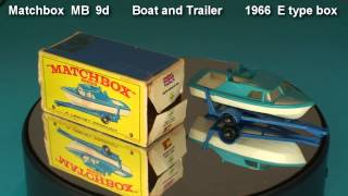 Boat and Trailer  Matchbox  MB  9 d   1966  E type box