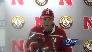 Mike Riley addresses the media after the Huskers lost to Illinois, 13-14.