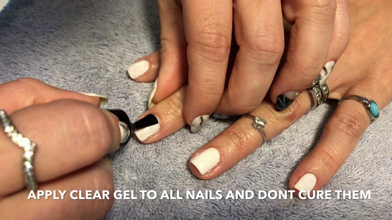 Marble gel Nails DIY - easy - YouTube