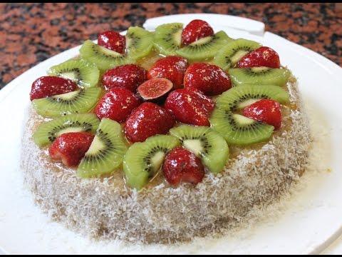 Pastel de frutas sin horno apple cake without oven - Postres con frutas faciles ...