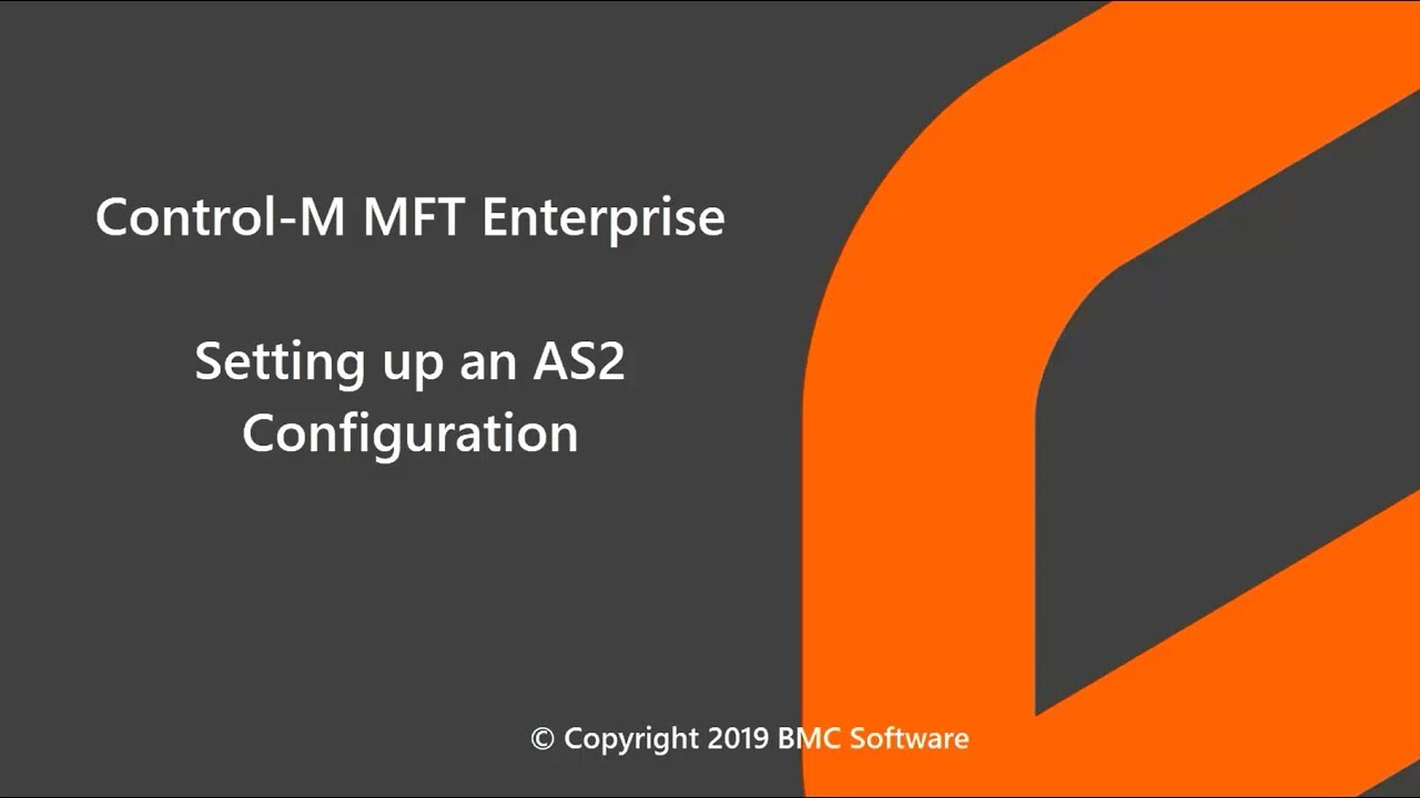 Control-M MFT Enterprise - Setting up an AS2 Configuration