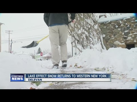 Cattaraugus County residents unfazed by first dusting of lake effect snow
